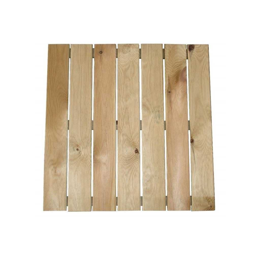 Pedana antiscivolo in legno di pino cm 50x50x3,2 h ideale per doccia da esterno