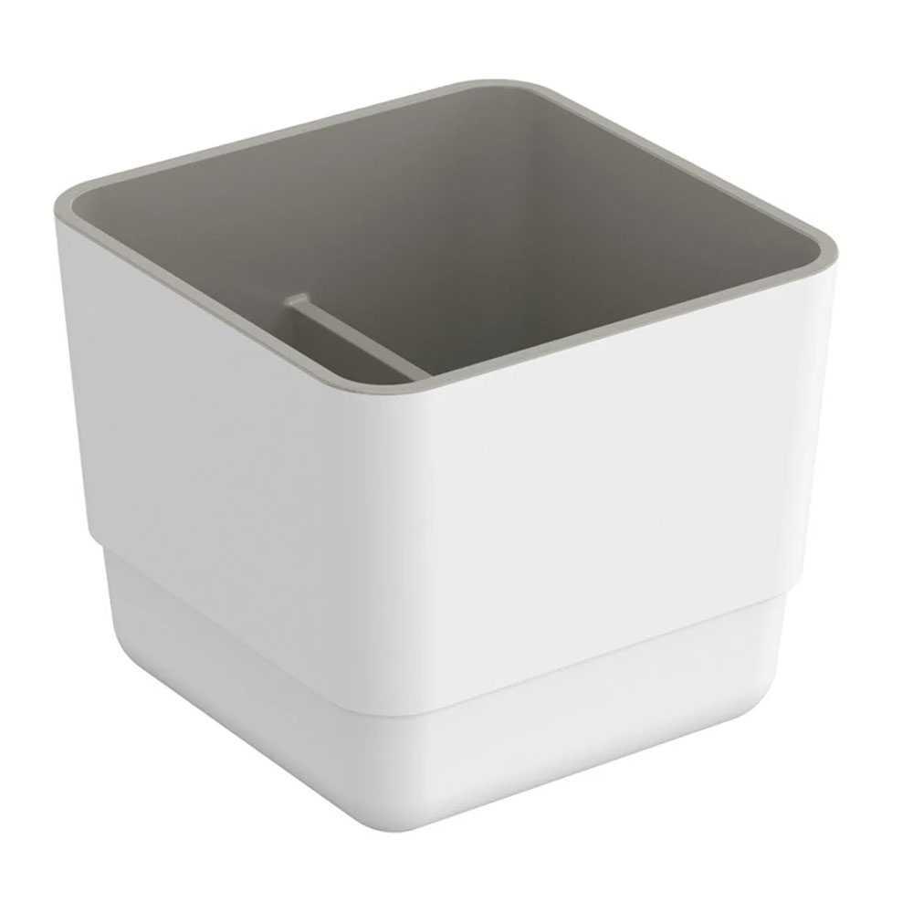 Porta spazzolino in plastica della collezione B-Smart by Cosmic - Bianco con interno grigio