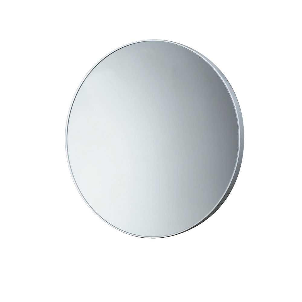 Specchio tondo con cornice bianca by Gedy - diametro cm 60