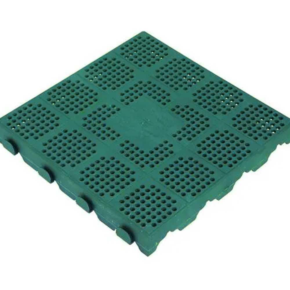 Piastrella per pavimento da esterno in polipropilene verde  cm 39x39x4,5