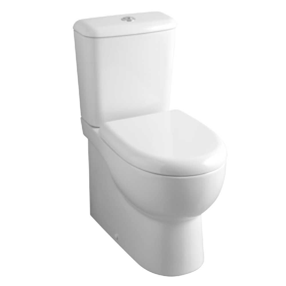 Wc Monoblocco senza brida a scarico trasformabile e sedile soft close Ceramica Azzurra modello 'ABE' cm 61,5