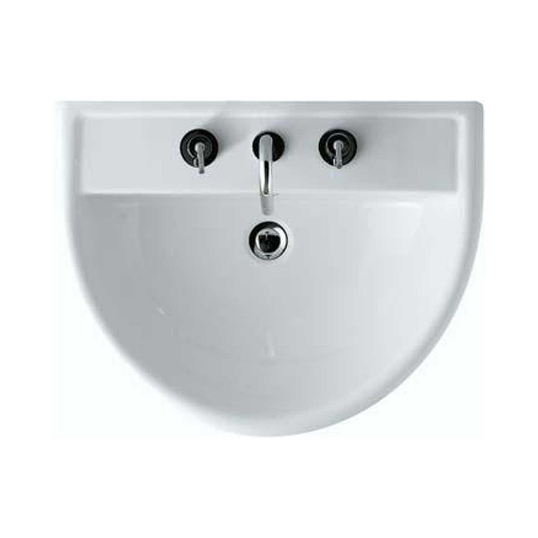 Lavabo modello Alia di Globo misure cm 65x51x20h in ceramica bianca lucida. Con foro troppopieno.