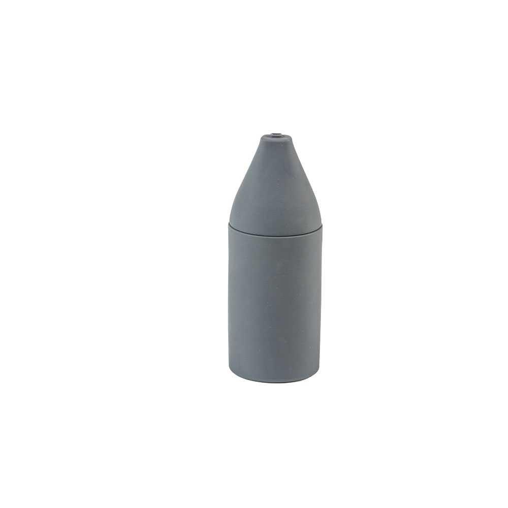 Dispenser Sapone da appoggio 'Sguish' in morbido silicone by Cipi - cm Ø 8 x 20h - Grigio