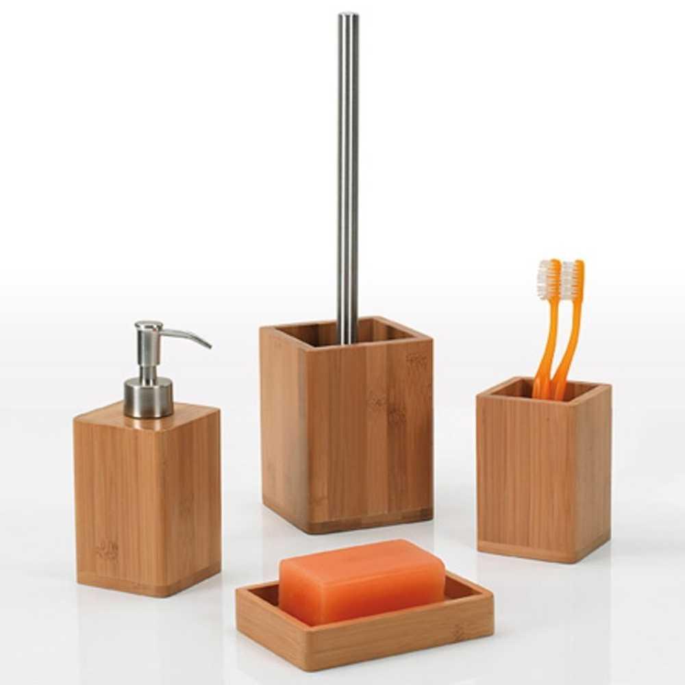Set Accessori Bagno Gedy collezione Bambù in bambù naturale
