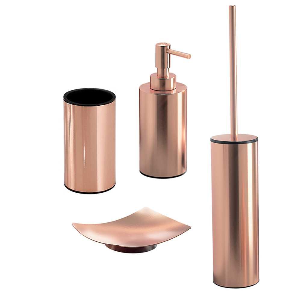 Set Accessori Bagno Gedy collezione Elettra in acciaio inox verniciato rame