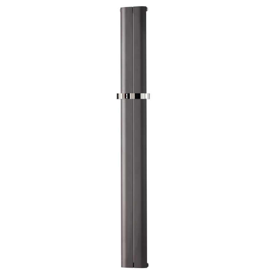 Radiatore in alluminio idraulico 2 elementi  cm 18,5x180 interasse cm 18,5 resa termica 436 Watt Decowarm modello Debre Antracite
