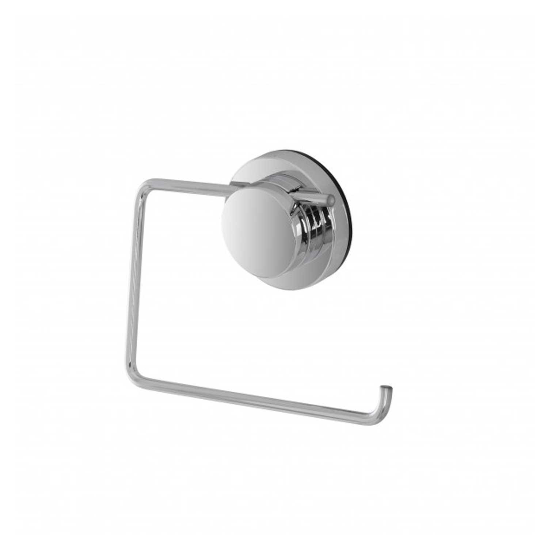 Porta rotolo in acciaio cromato serie Naiki fissaggio a ventosa