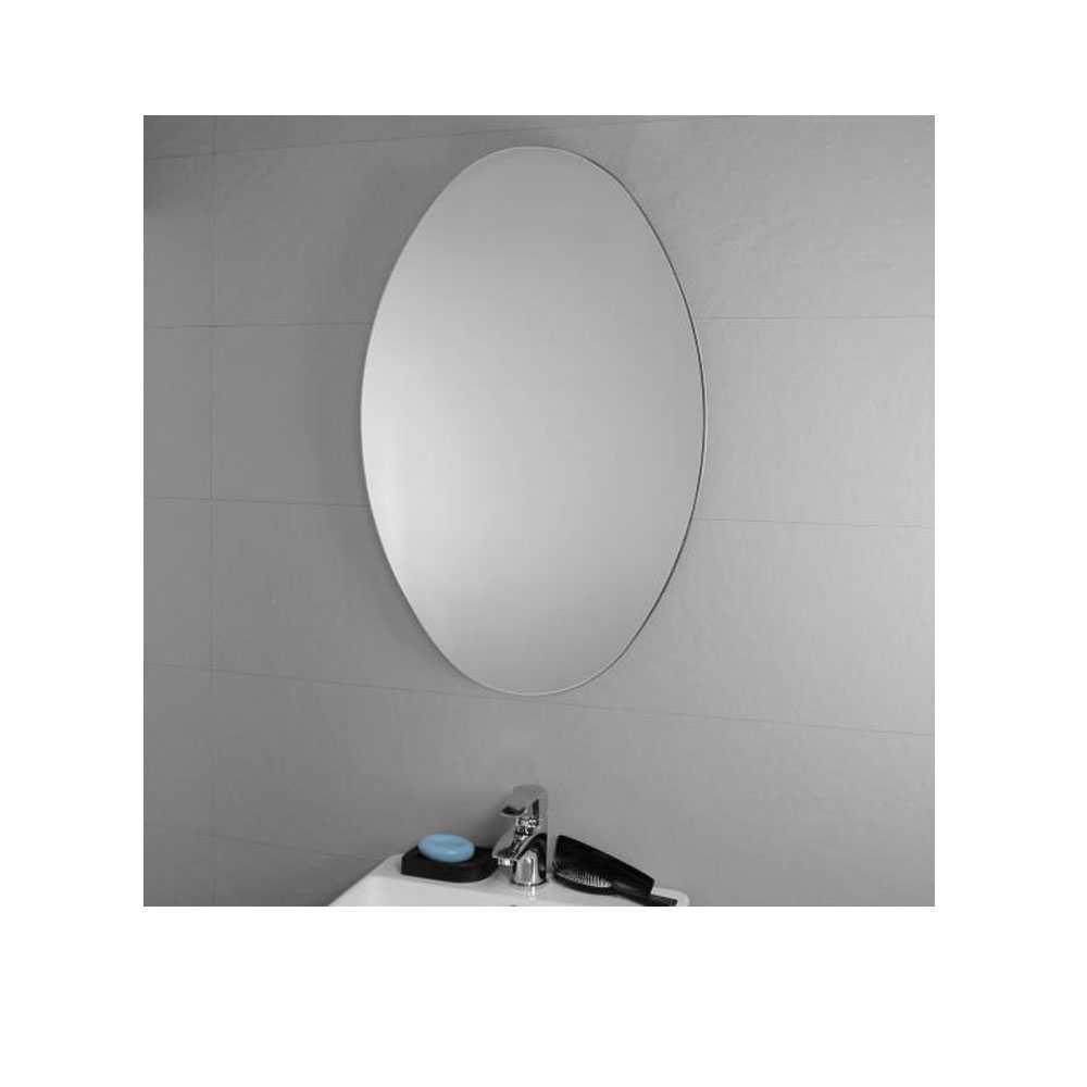 Specchio 'Ovale' da parete  con molatura filo lucido - cm 50lx80h - Koh-i-Noor