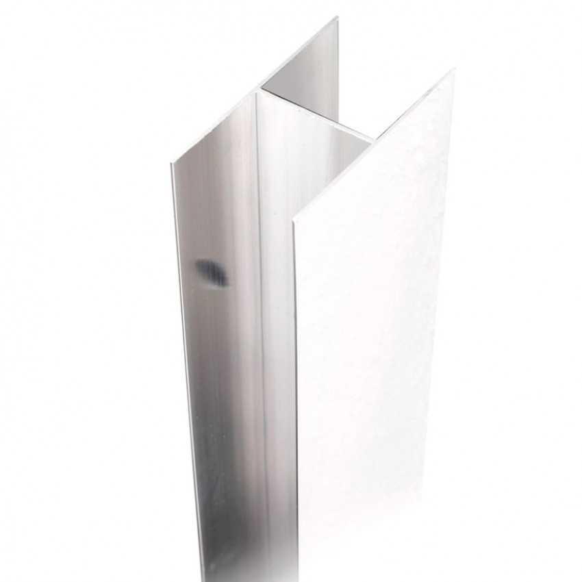 Profilo aggiuntivo in alluminio da cm 2 per box doccia Lauren e Atlas