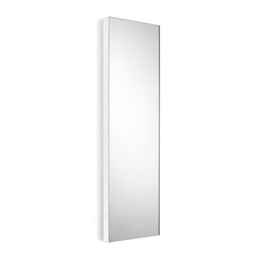 Specchio rettangolare con cornice bianca Lineabeta Speci cm 44,5x100