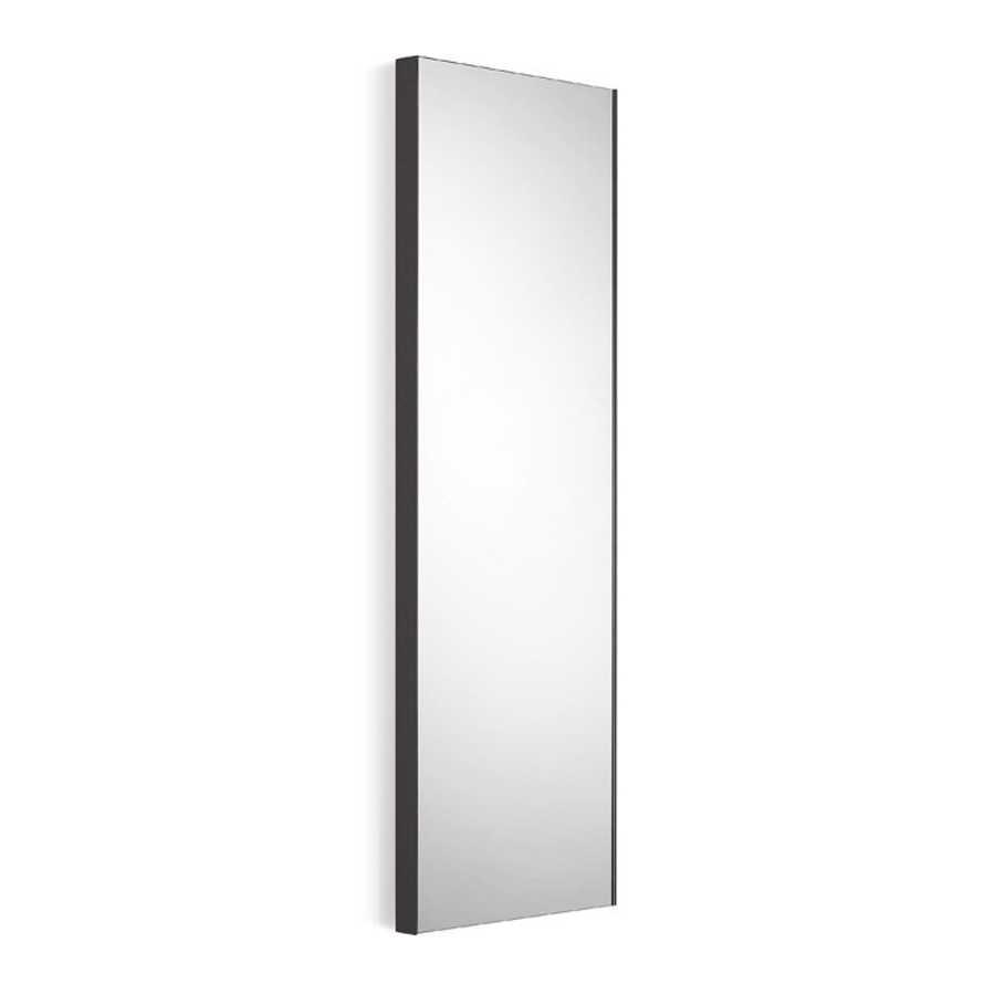Specchio rettangolare con cornice nero goffrato Lineabeta Speci cm 44,5x100