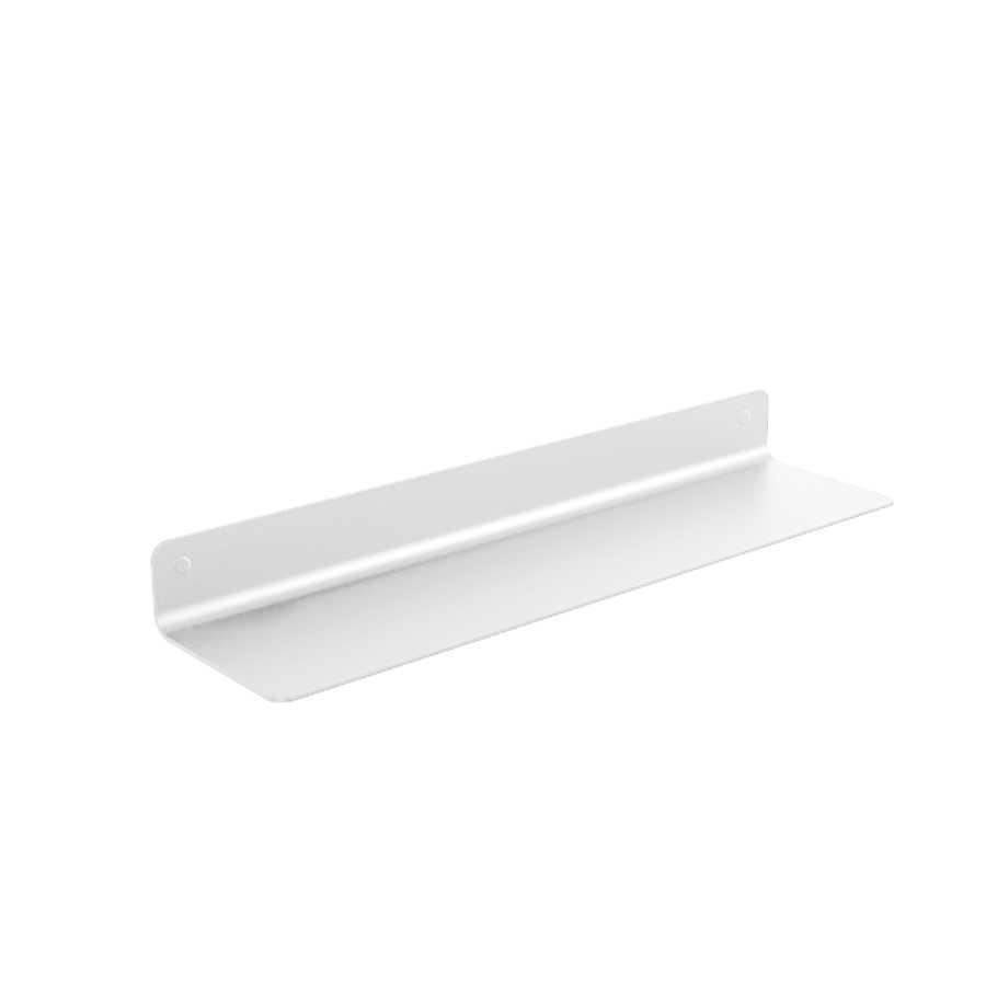 Mensola porta oggetti a muro Lineabeta collezione Saeta in alluminio verniciato bianco misura cm 45,4