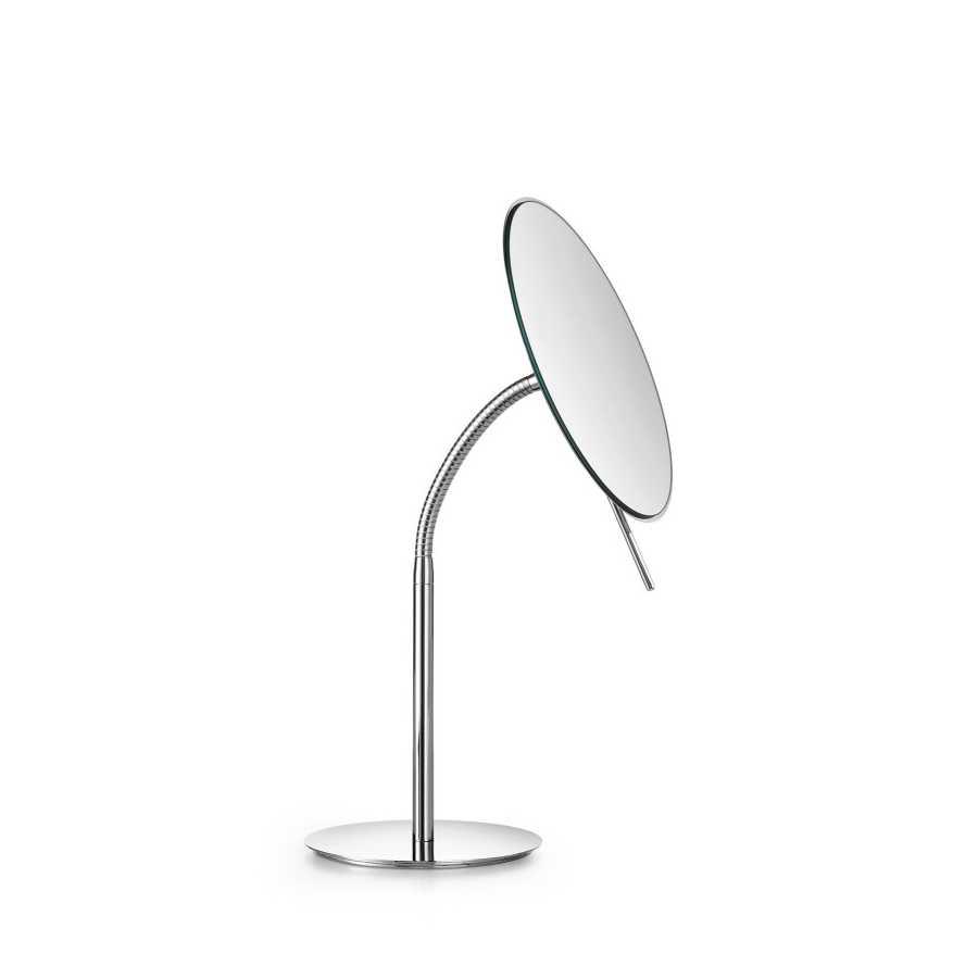 Specchio ingranditore tondo da appoggio Lineabeta Mevedo con braccio snodabile disponibile 3x - 5x - 8x