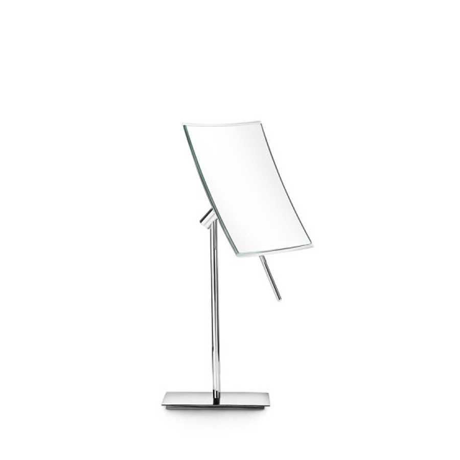 Specchio ingranditore quadrato da appoggio Lineabeta Mevedo con snodo per rotazione 3x