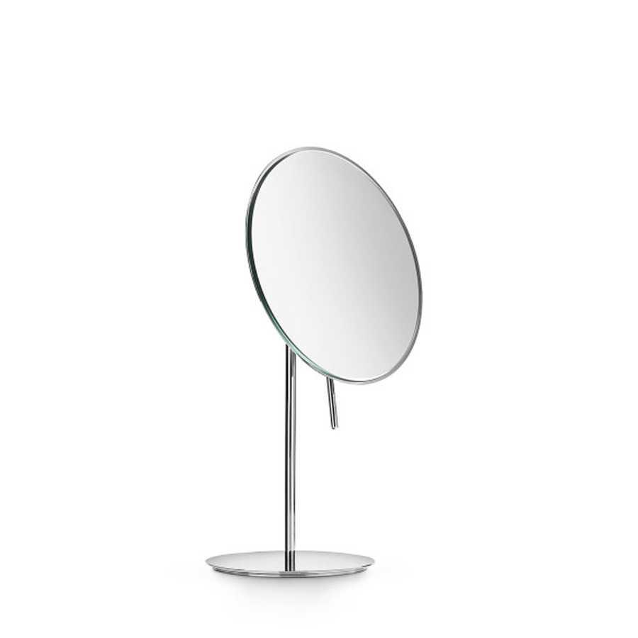 Specchio ingranditore tondo da appoggio Lineabeta Mevedo con snodo per rotazione 3x-5x-8x
