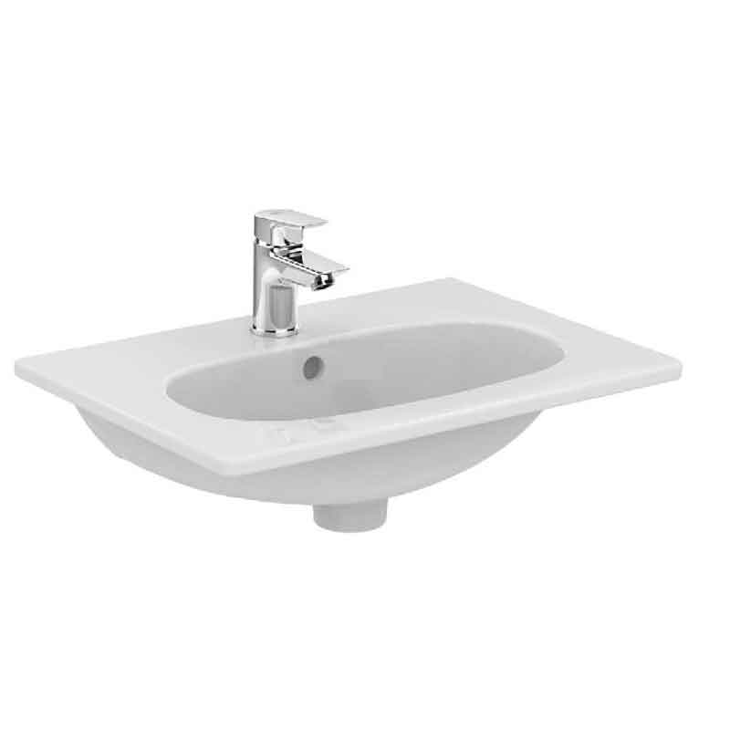 Misure Lavandino Bagno Standard.Lavabo Sospeso 50x37 Di Piccole Dimensioni In Ceramica Ideal Standard Tesi