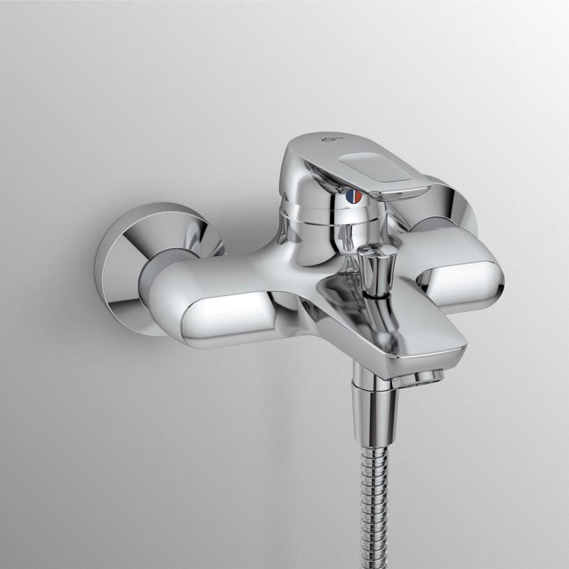 Miscelatore monocomando vasca Ideal Standard Ceramix Blu con set duplex