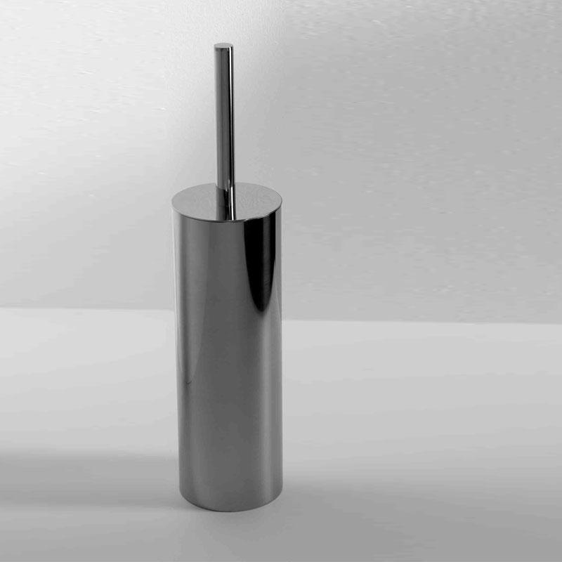 Scopino WC in acciaio cromato con ciuffo in setole modello LOGIC by ARES