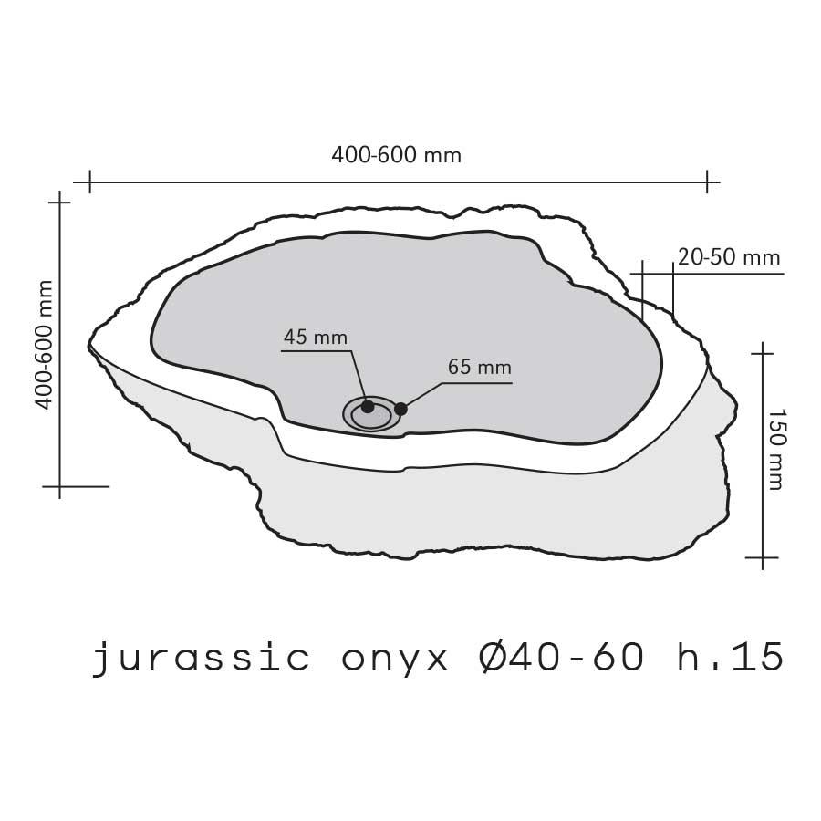 Lavabo da Appoggio in pietra Jurassic Onyx