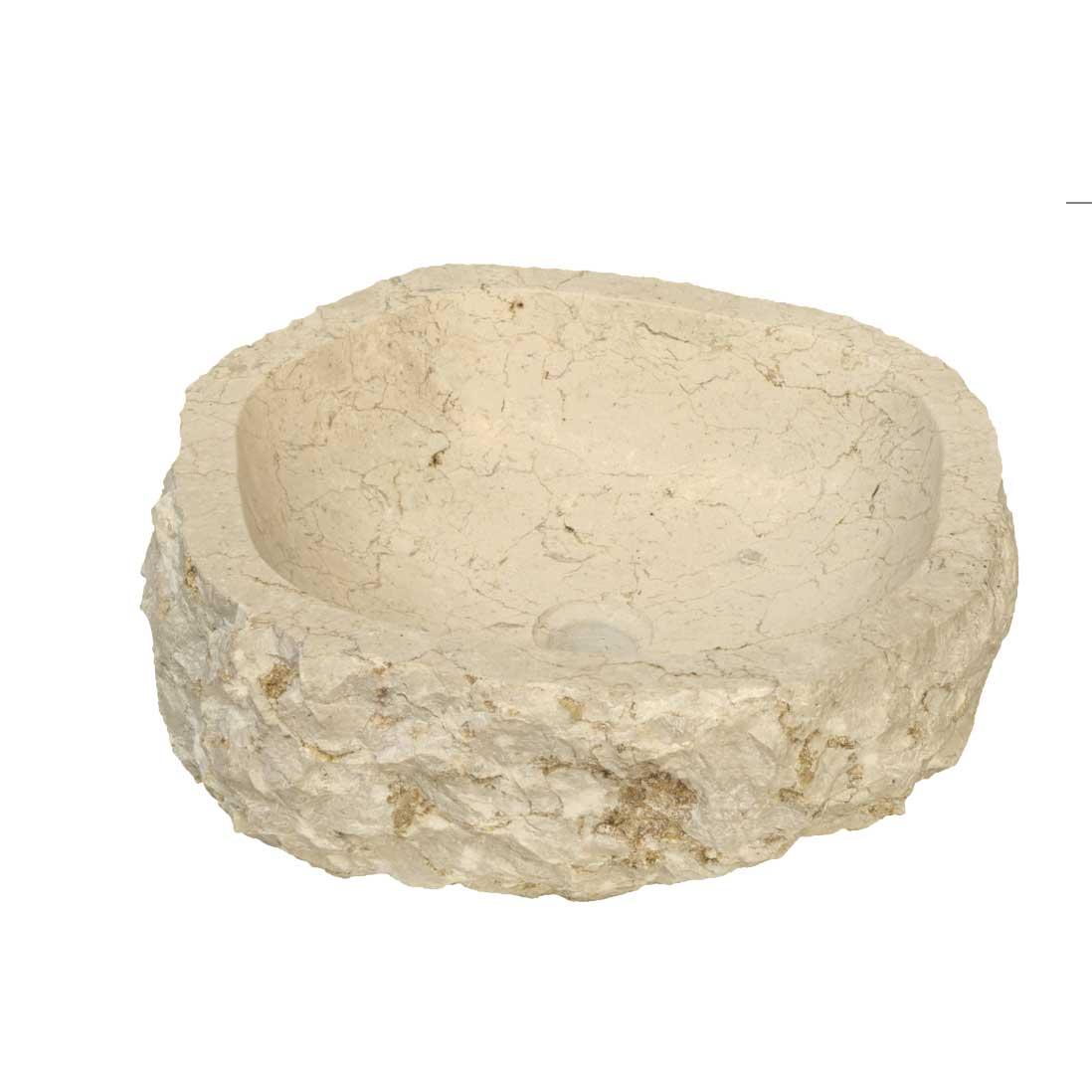Lavabo da Appoggio in Marmo astratto beige