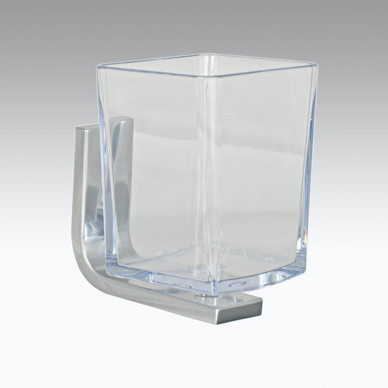 Portaspazzolini da parete in alluminio e policarbonato modello Materia Koh-i-Noor