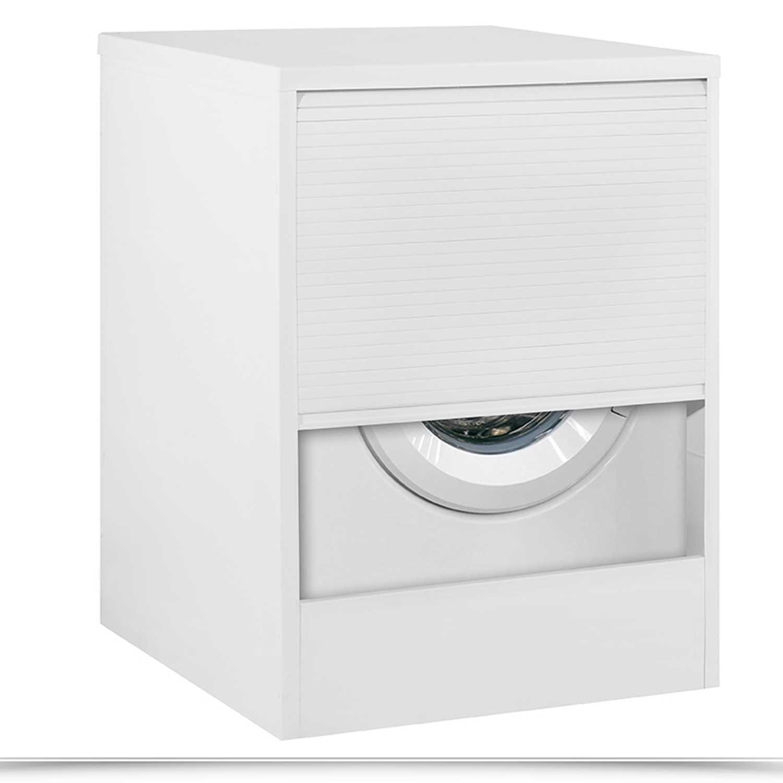 Mobile coprilavatrice a serranda in resina per interno o esterno cm 67x59,5x90,5