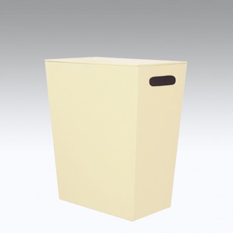 Cesto Porta Biancheria in eco pelle koh-i-noor colore crema