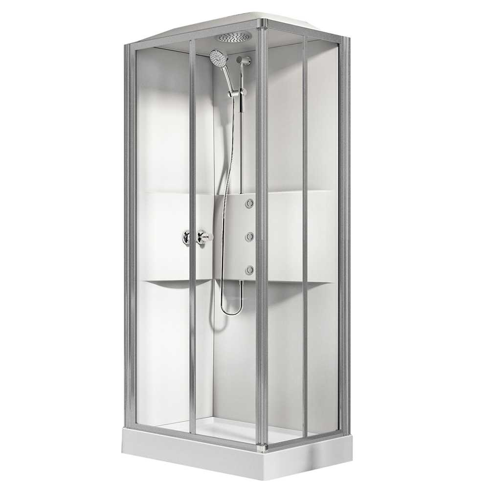 Cabina doccia multifunzione Novellini con idromassaggio cm 80x80