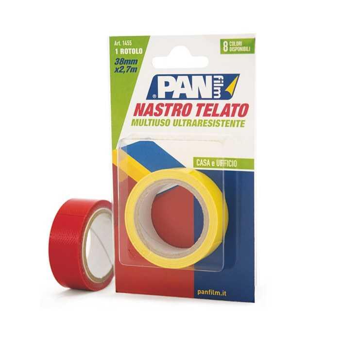 Nastro telato GIALLO mm 19 x 2,7 mt - Nastro plastificato multiuso di alta qualità, impermeabile e facile da usare.