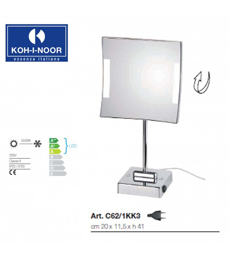 Specchio ingranditore da tavolo Koh-I-Noor Quadrolo LED