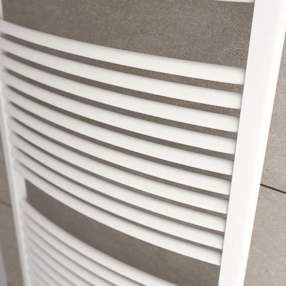 Termoarredo scaldasalviette Lazzarini Sanremo curvo 1110x500 interasse 450 bianco