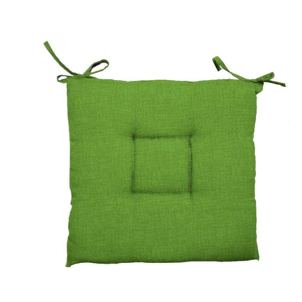 Cuscino per sedie 40x40 cm collezione Creta: colore verde e spessore 5 cm