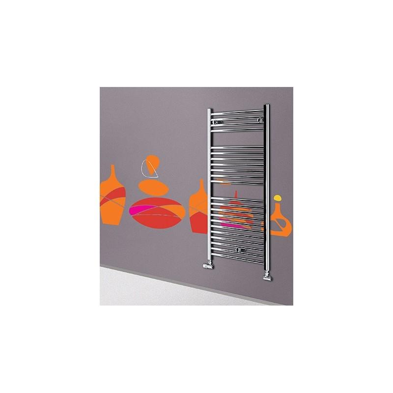 Termoarredo scaldasalviette Lazzarini Sanremo cromato 1110x450 interasse 400