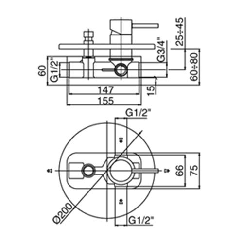 Paffoni Light miscelatore lavabo c/scarico, bidet c/scarico e doccia con deviatore
