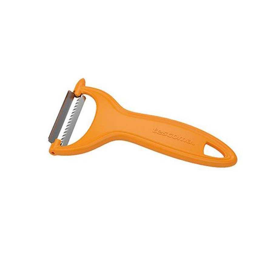 sbucciatore julienne a lama laterale in acciaio inossidabile colore arancione