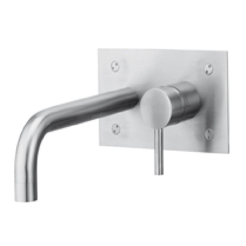 Miscelatore lavabo incasso Paffoni Steel con piastra rettangolare