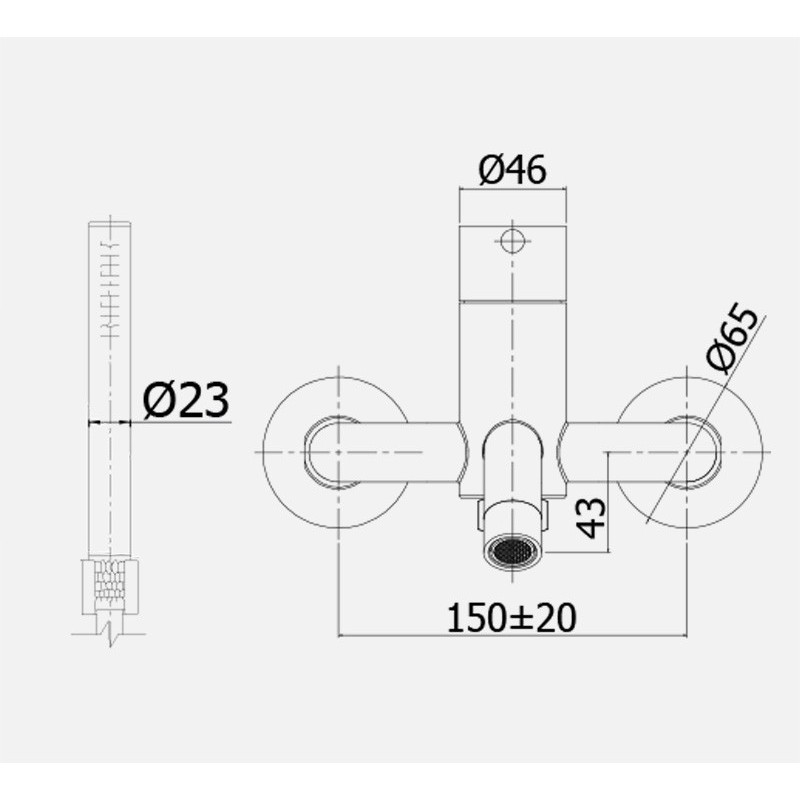 Miscelatore vasca con set doccia Paffoni Steel acciaio inox satinato