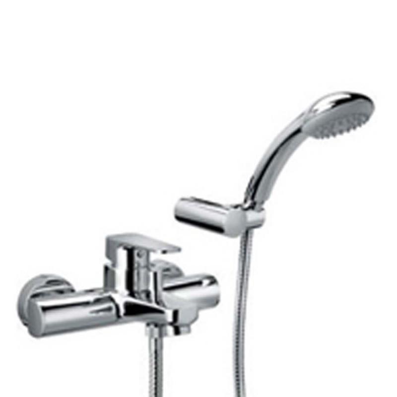 Miscelatore vasca ottone cromato Paffoni Sly con set doccia