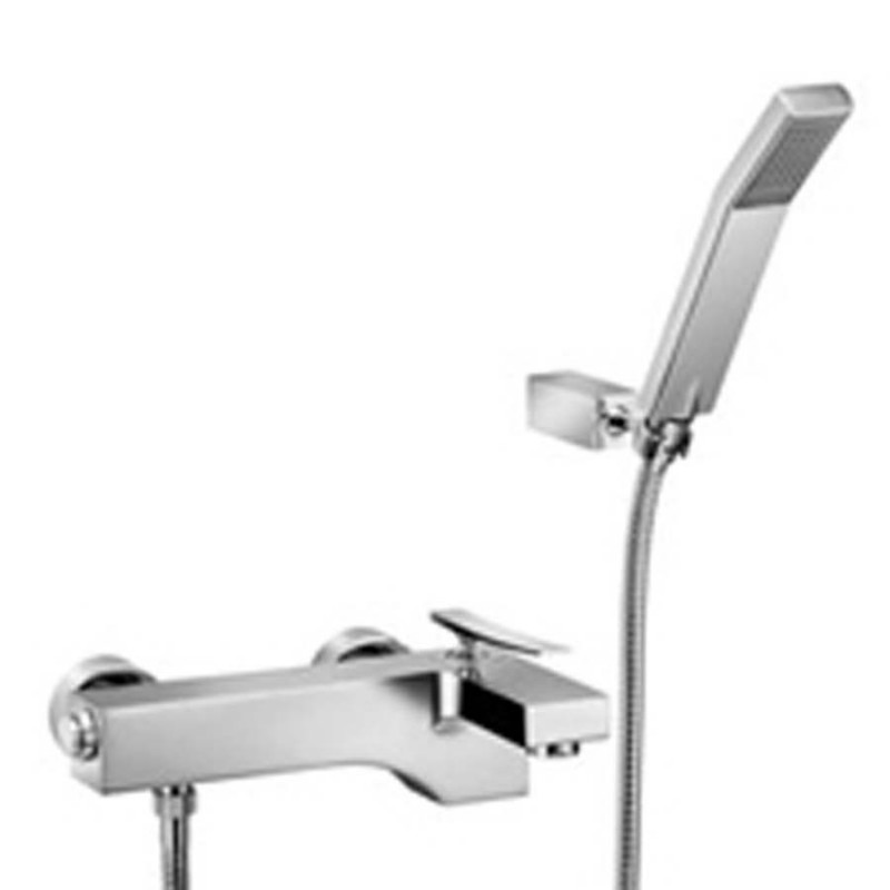 Miscelatore vasca ottone cromo lucido Paffoni Elys con set doccia
