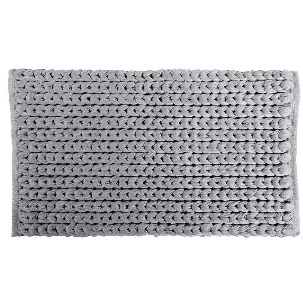 Tappeto modello 'Tissu' con intreccio cm 60x110 by Cipi - Grigio