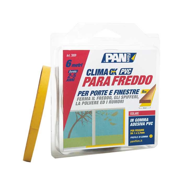 Parafreddo adesivo in PVC 9x6 mmxmt MARRONE. Ideale per finestre non particolarmente danneggiate.