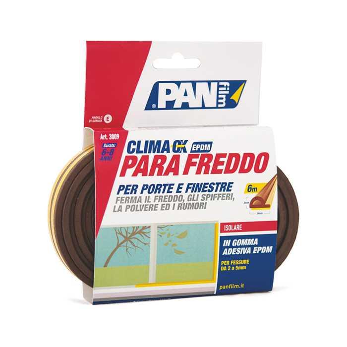 Parafreddo EPDM 9X6 mmxmt Adesivo in PVC per interstizi da 1 a 3,5 mm MARRONE. Sigilla finestre e porte in legno, alluminio, pvc e porte blindate.