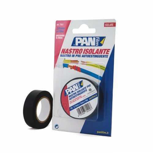 Nastro isolante PVC plastificato 15x10 mmxmt 1 rtl NERO + 1 rtl ROSSO