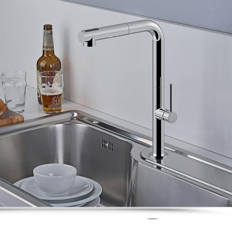 Miscelatore Cucina con doccia estraibile Paffoni Chef CH985CR