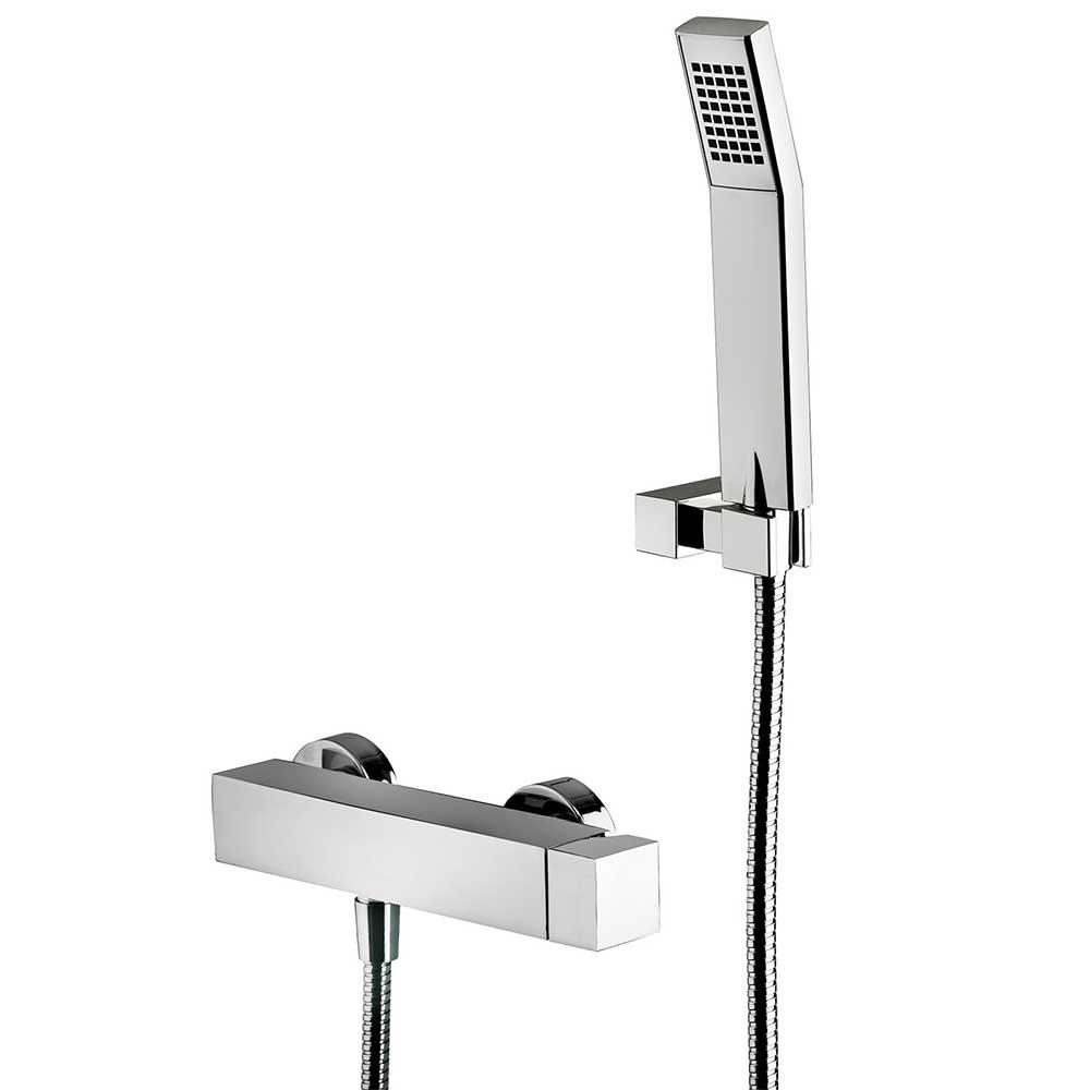 Miscelatore doccia Paffoni Elle completo di set doccia con supporto a muro