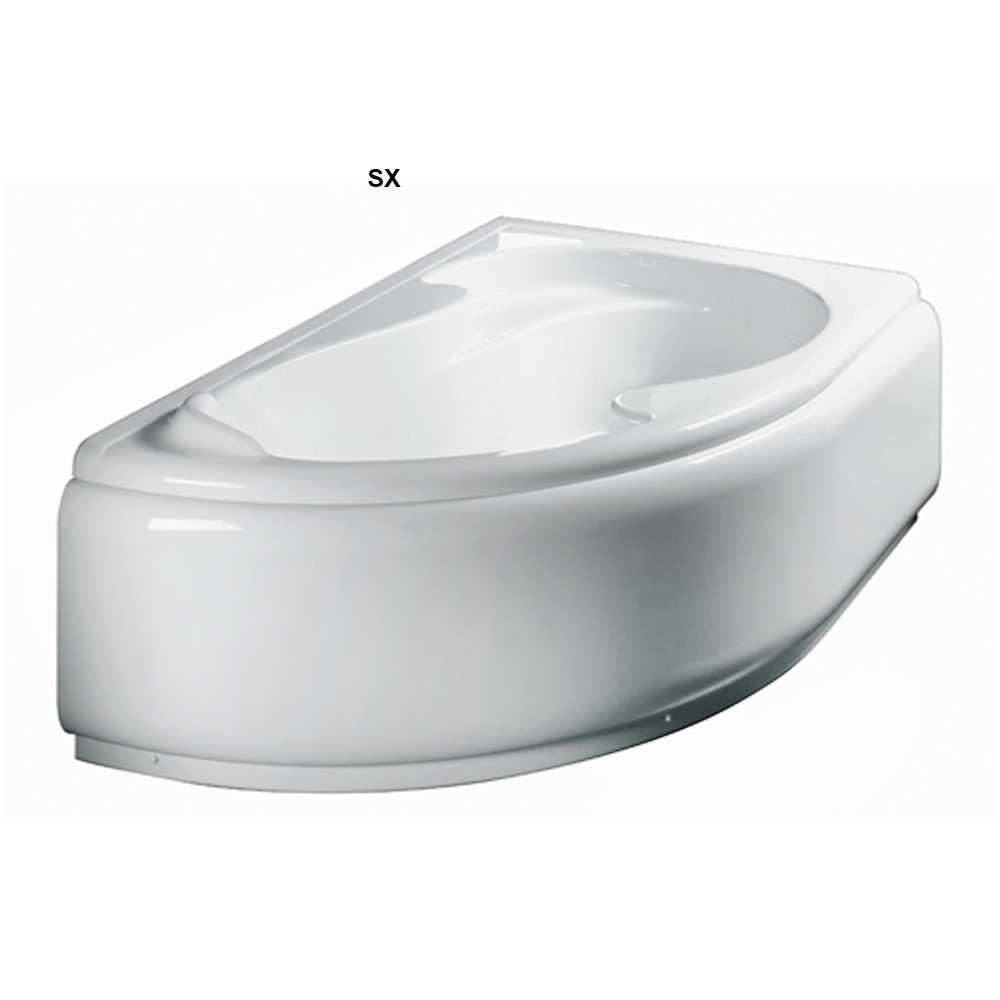 Vasca Bagno asimmetrica modello Grace in acrilico e Abs cm 150x100- Versione Sinistra