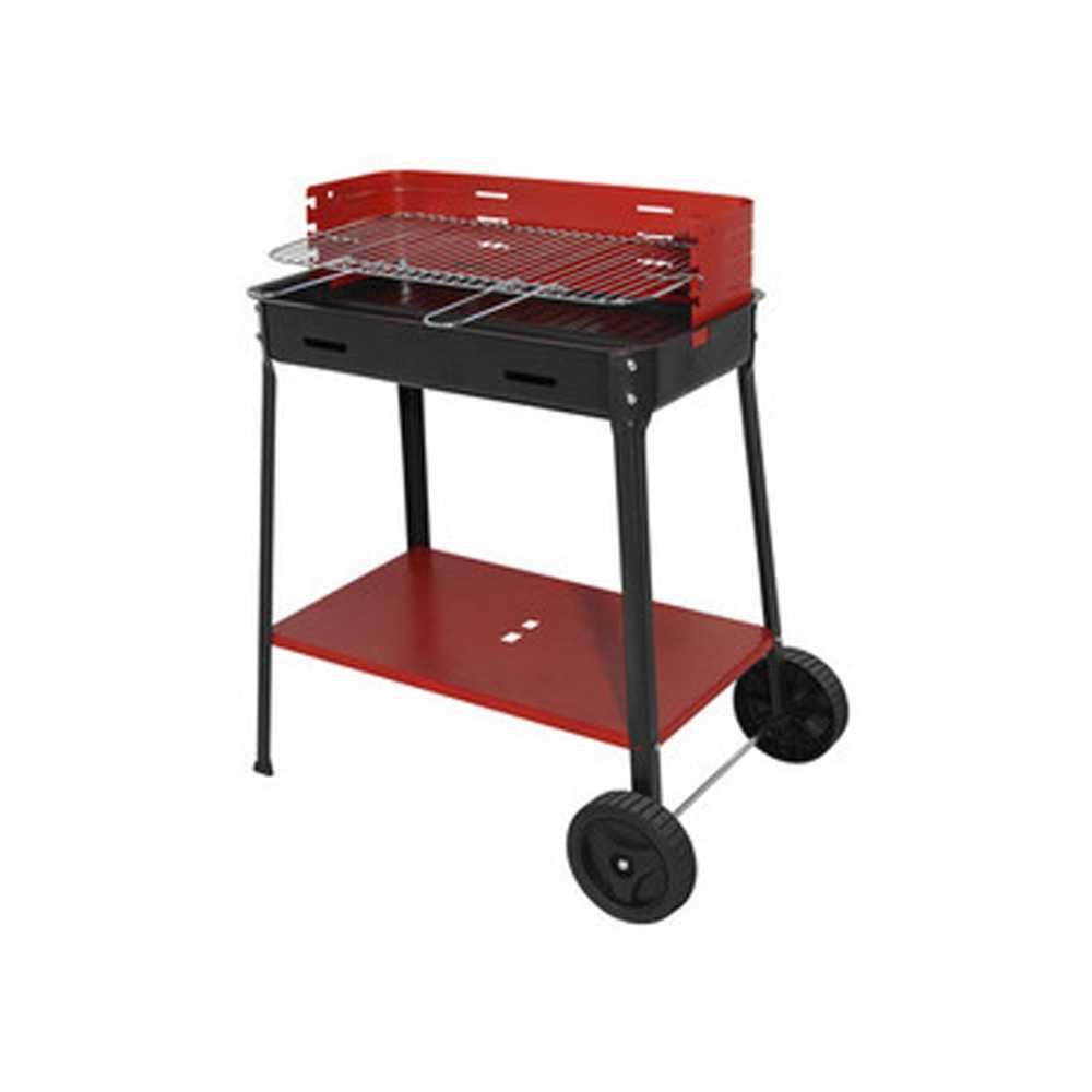 Barbecue 503 R struttura in acciaio verniciato e griglia regolabile in tre posizioni