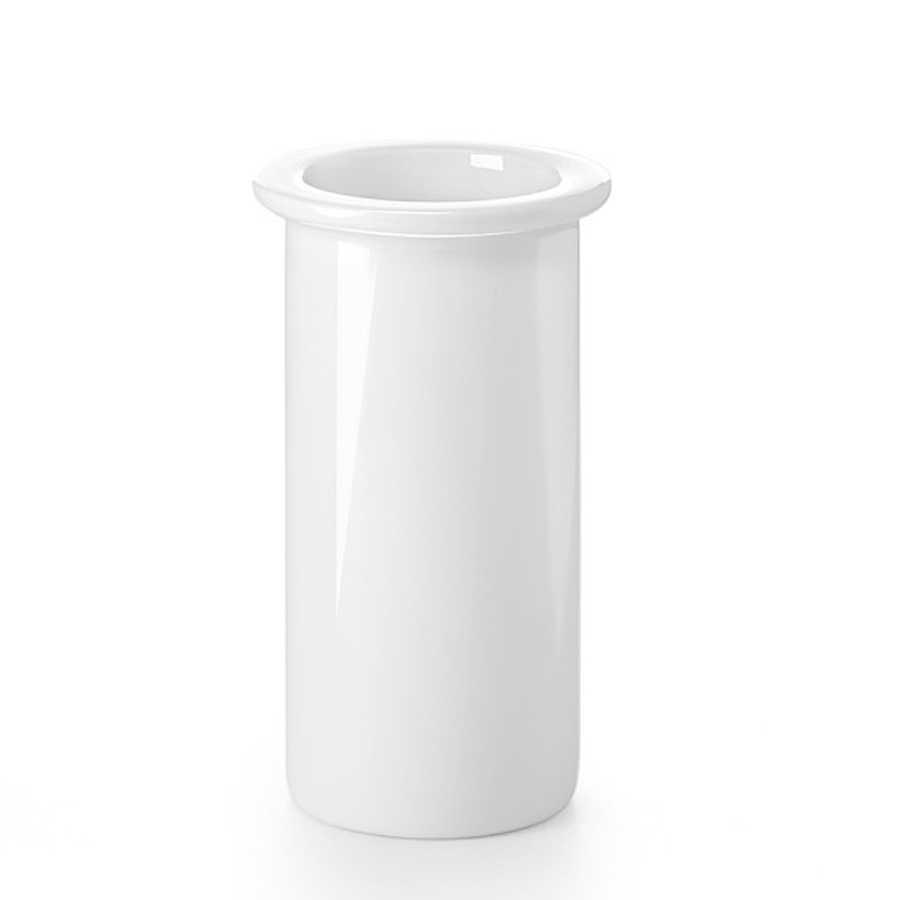 Bicchiere portaspazzolino Lineabeta collezione Baketo-Duemila-Picola in porcellana o vetro acidato