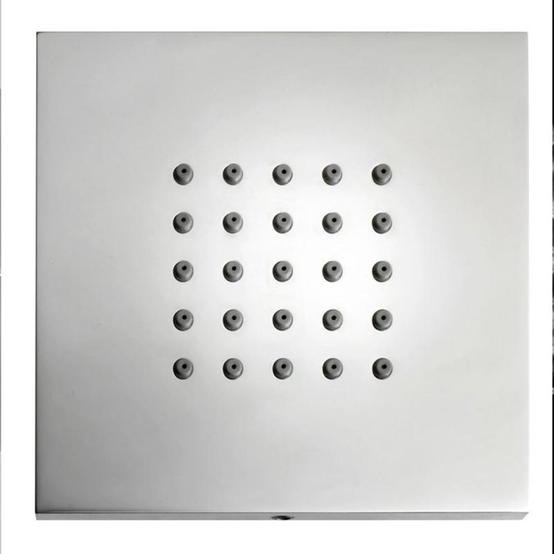 Soffione laterale quadrato per doccia Wellness Bossini Cubic Flat con ugelli anticalcare