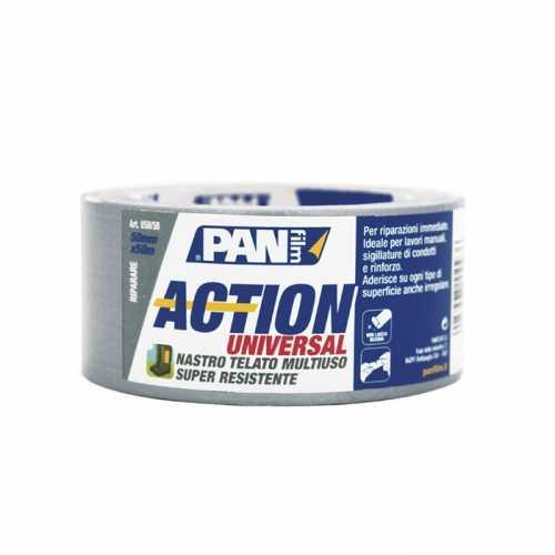 Action universal mm 50x10 mt bianco. Nastro telato multiuso, super resistente, ideale per riparazioni immediate.